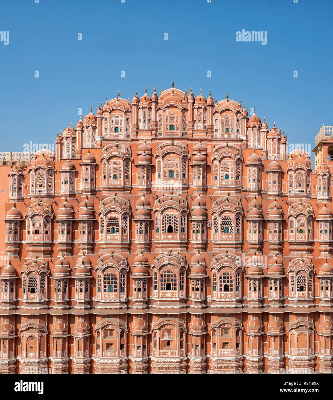 Hawa Mahal palace (Palace of the Winds), Jaipur, Rajasthan Stock Photo