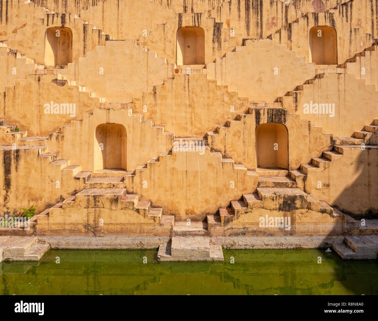 Chand Baori stepwell in Jaipur, India Stock Photo