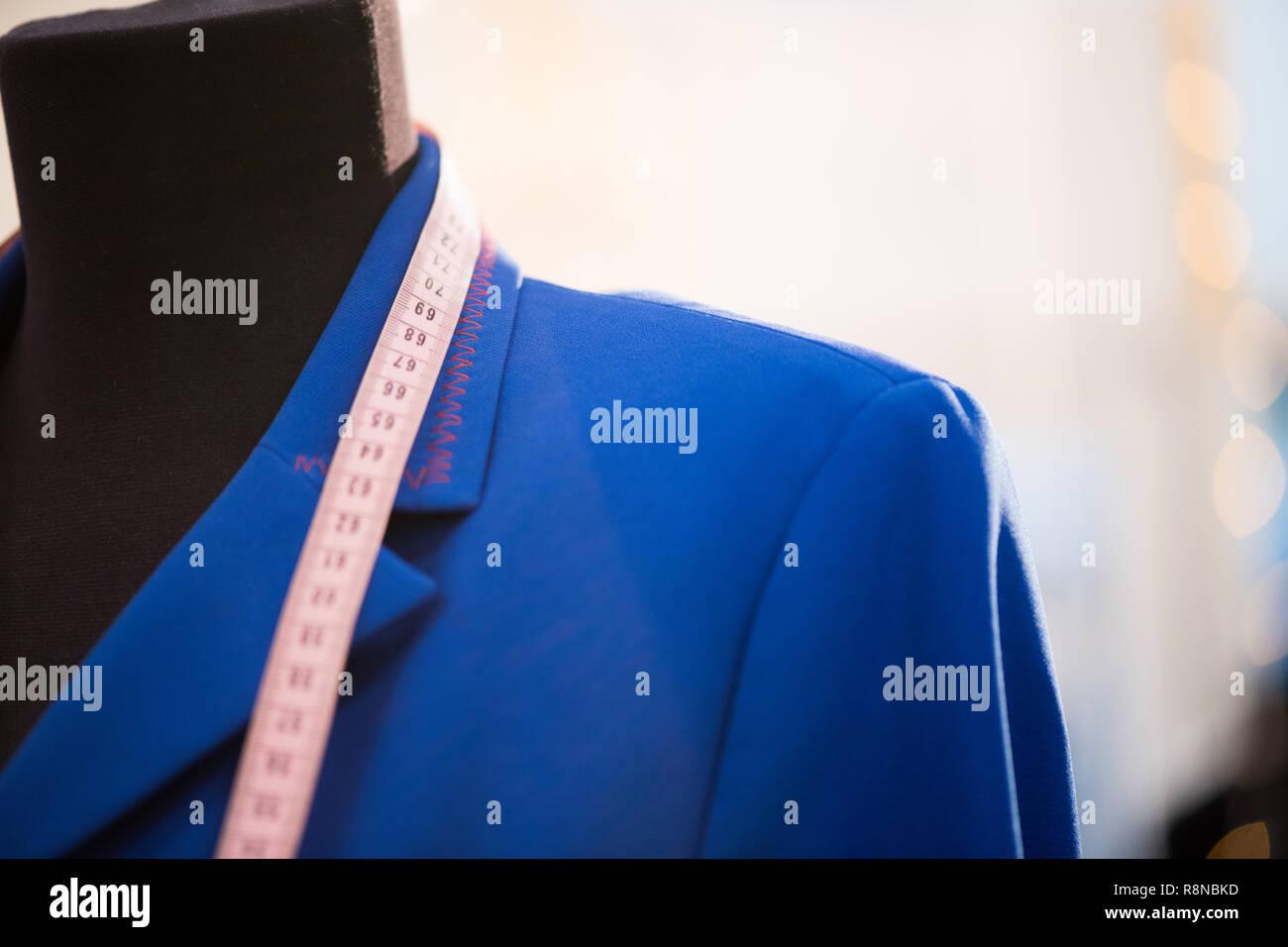 Electric Blue Jacket - Stock Image