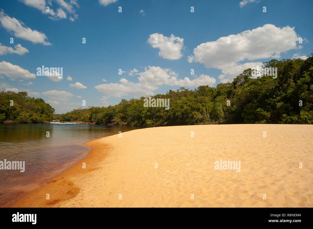 Prainha do Rio Novo, Jalapão, Tocantins Estate, Brazil - Stock Image