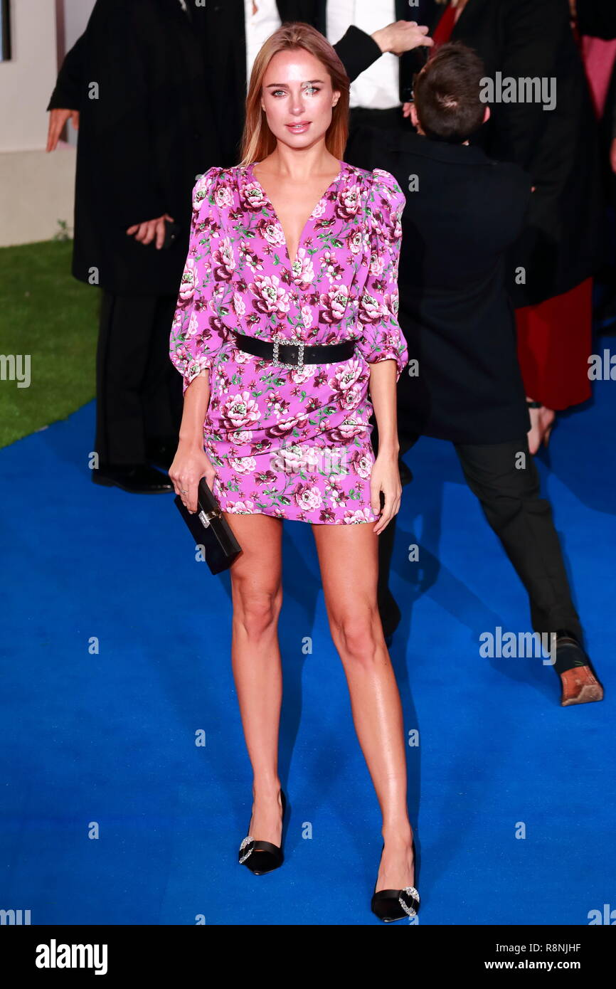 Kimberley Garner at the Premiere of Mary Poppins Returns at the Royal Albert Hall in London, UK - Stock Image