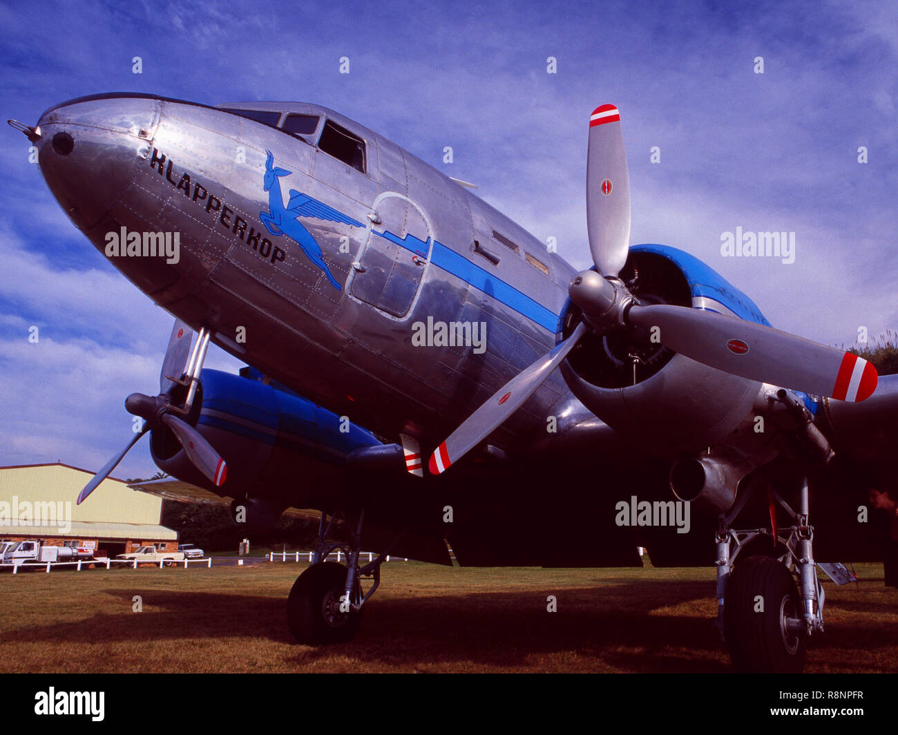 Zürich Airport: A South African Airways DC-10 Oldtimer airplaine - Stock Image