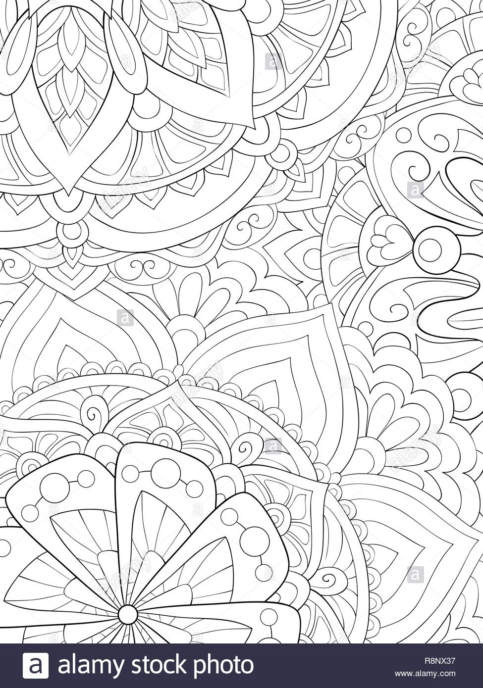 An abstract floral background image for relaxing activity.Zen art ...