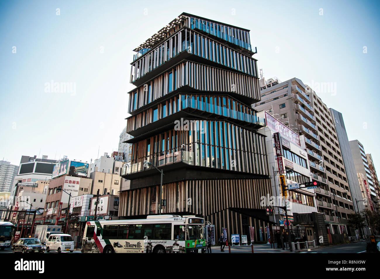 The Asakusa Culture Tourist Information Centre in Tokyo - Stock Image