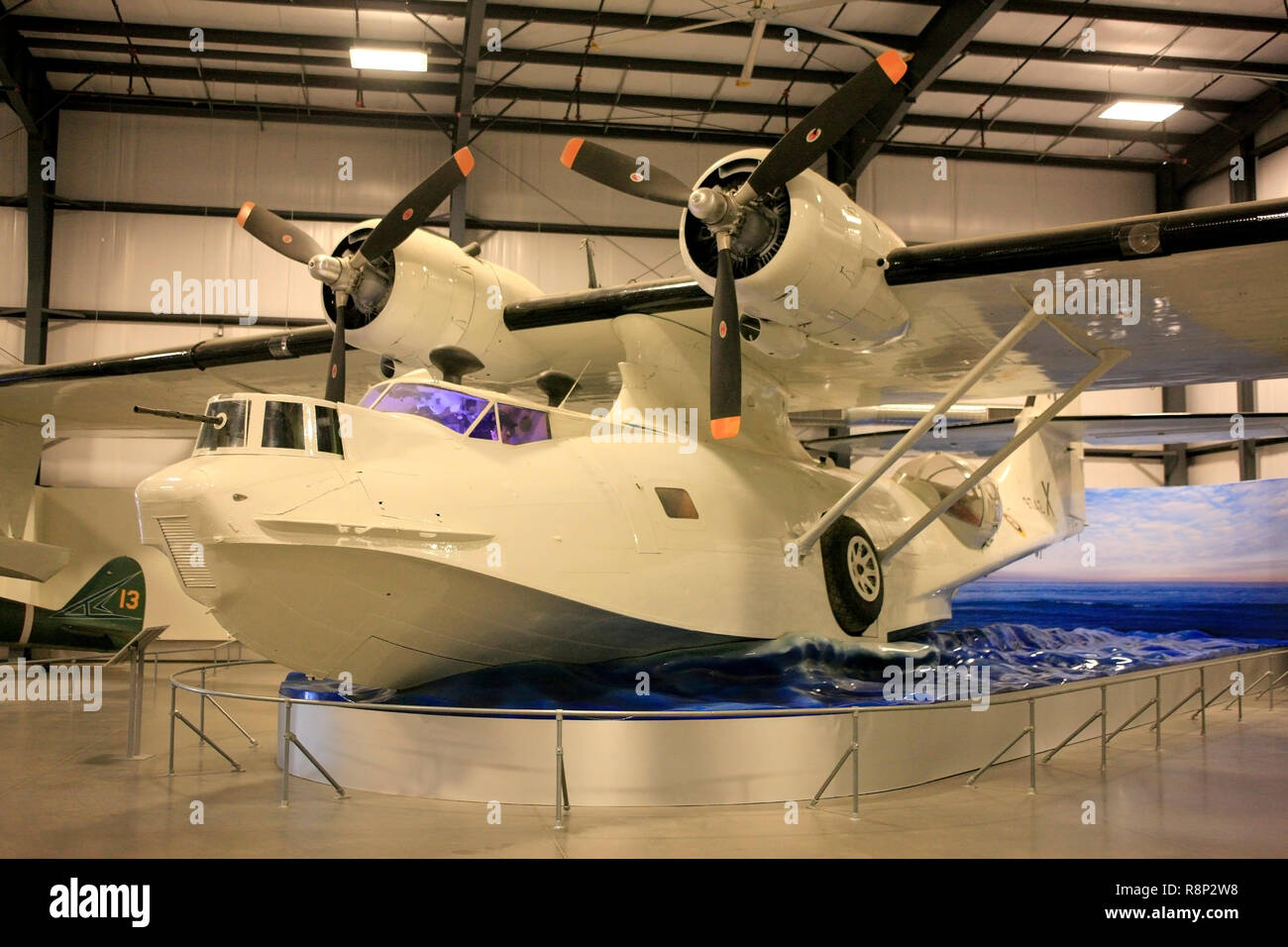 WW2 Consolidated PBY Catalina flying boat plane on display at the Pima Air & Space Museum in Tucson, AZ Stock Photo