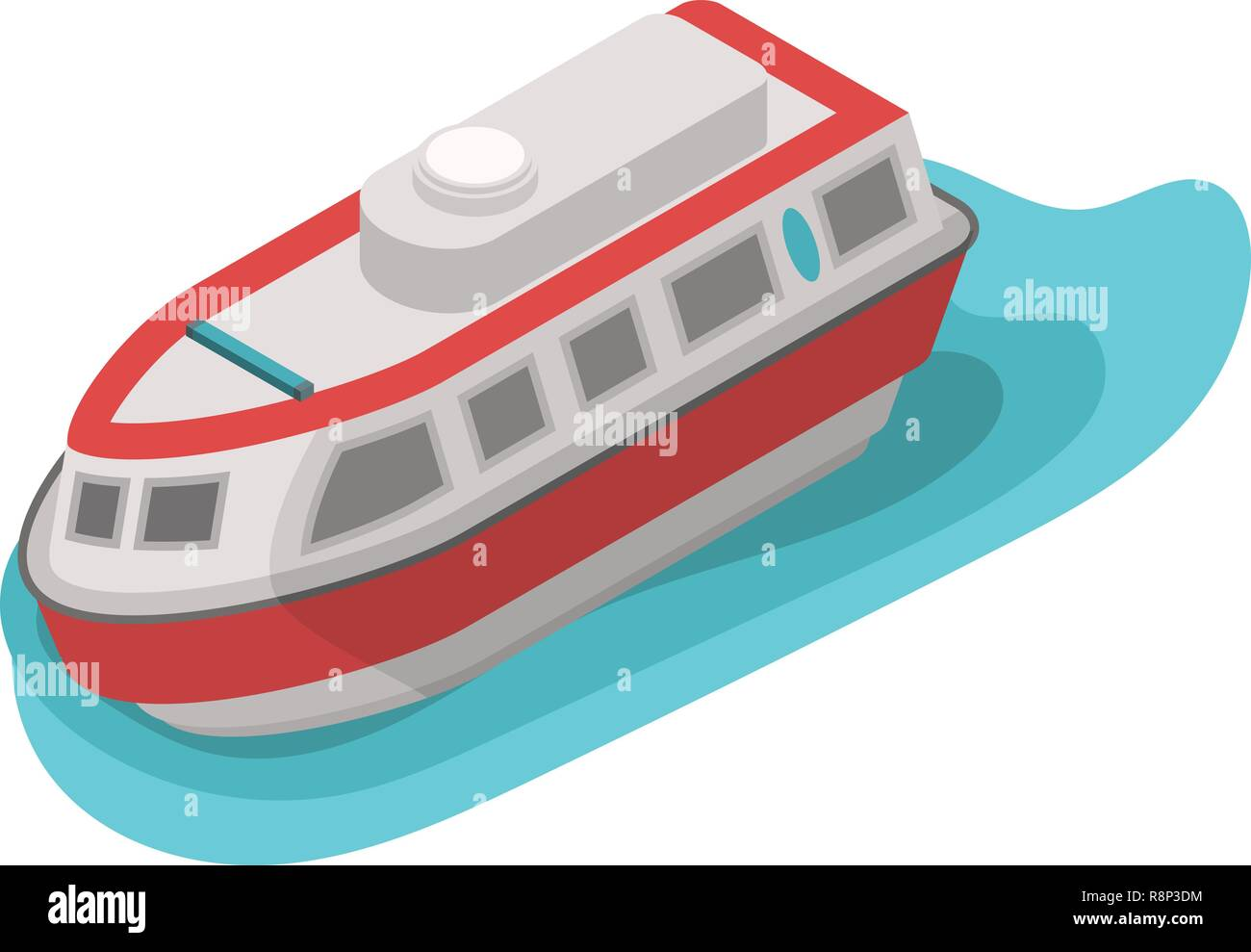 Rescue water boat icon, isometric style - Stock Vector