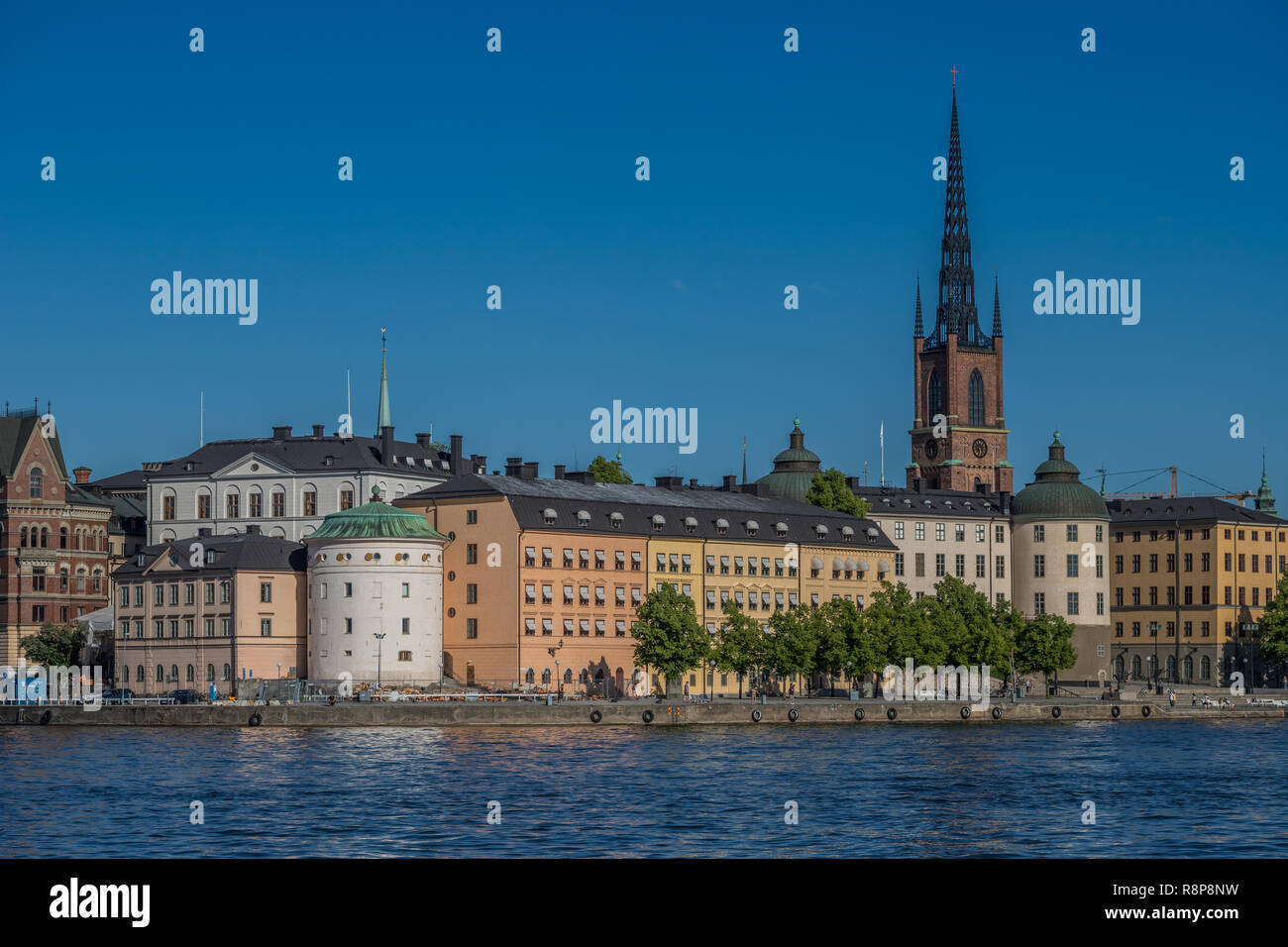 Old city of Stockholm in Sweden - Stock Image
