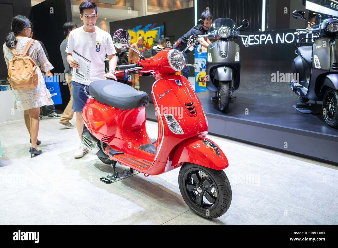 Bangkok, Thailand - November 30, 2018 : Vespa motorcycle and
