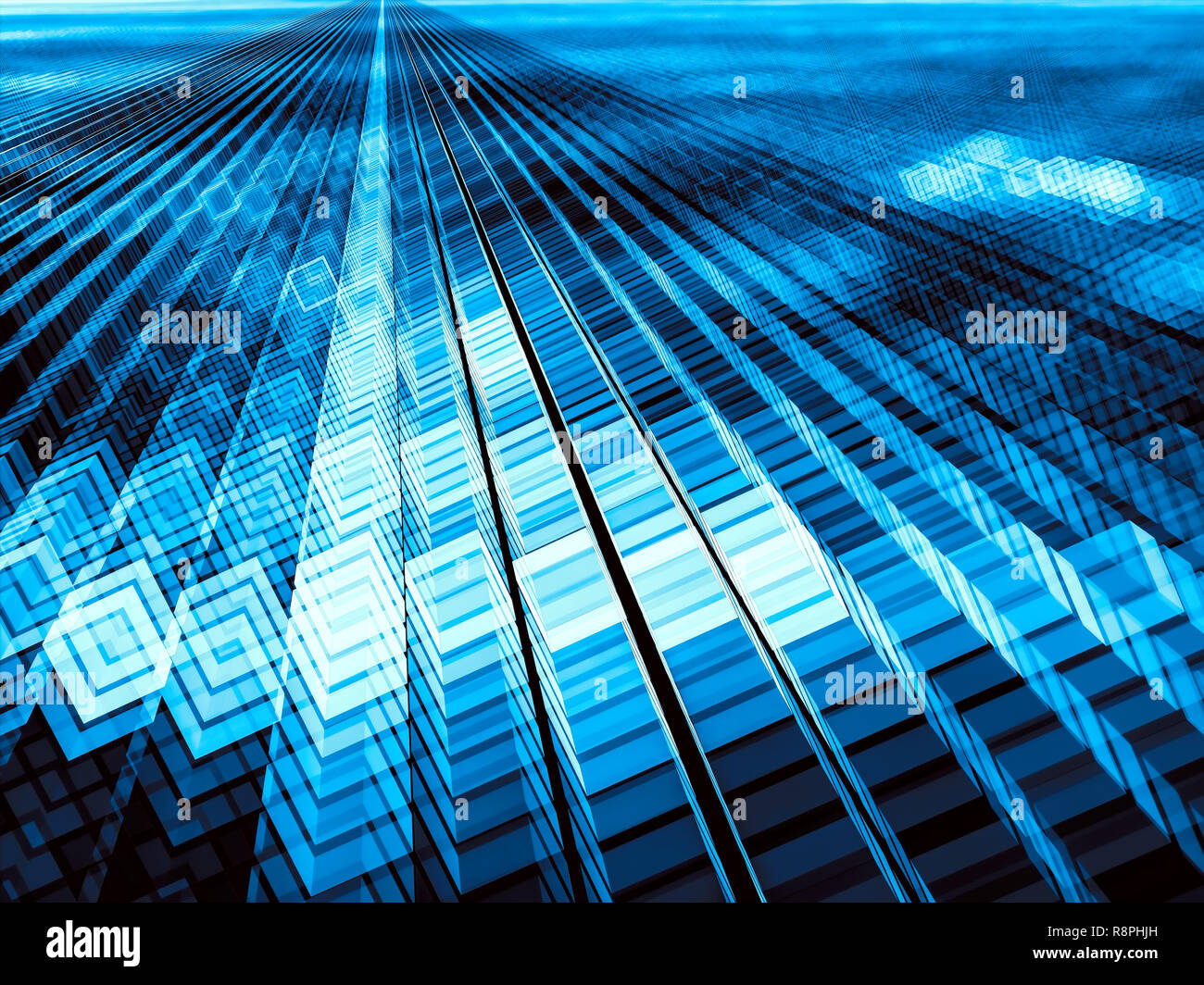 Glossy Cubes Background Abstract Computer Generated Image