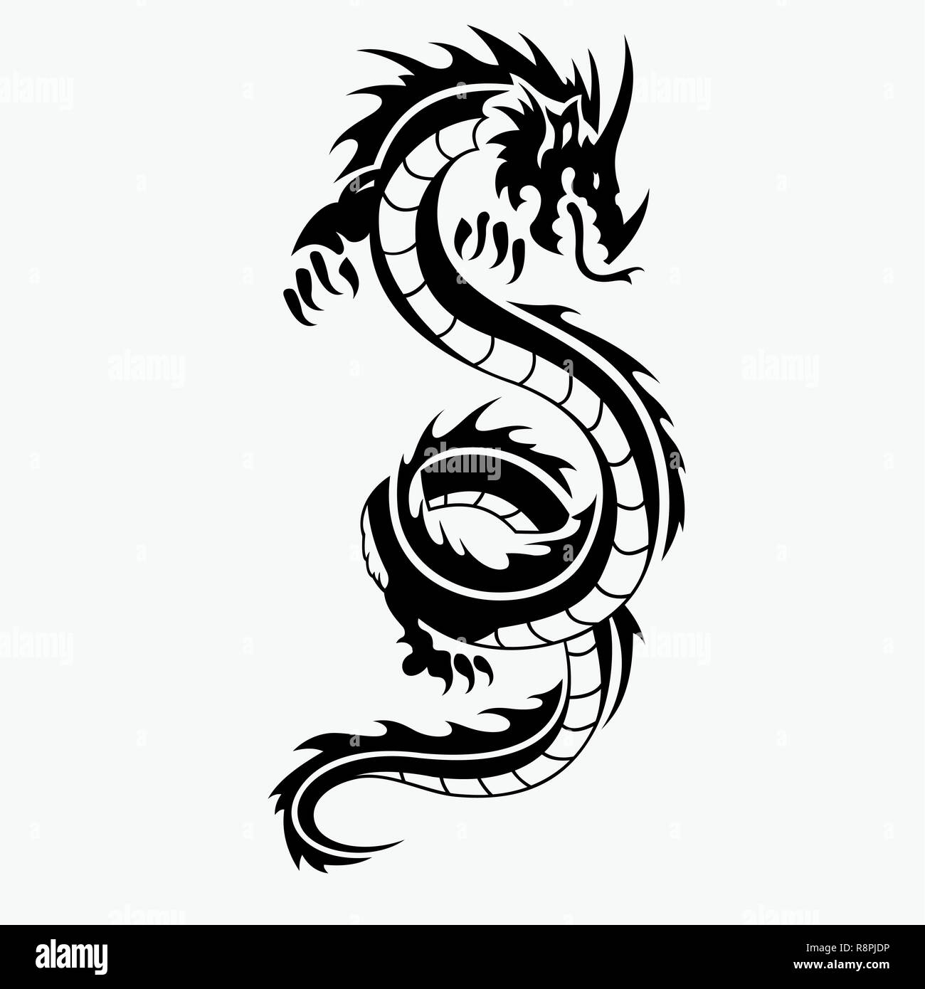 14d74c7ed Dragon vector illustration for tattoo designs, logos, icons, symbols,  t-shirt