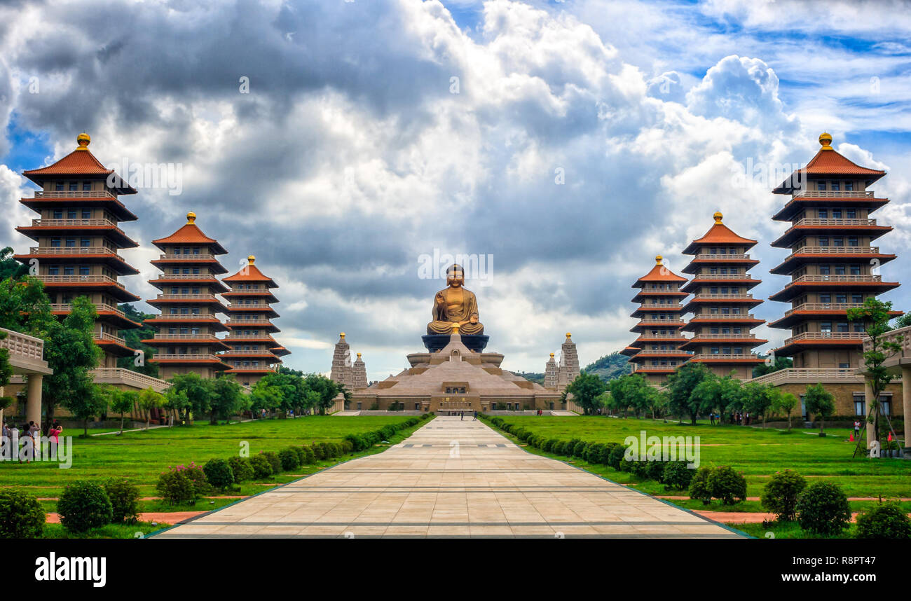 Buddhist Temple Taiwan - Stock Image