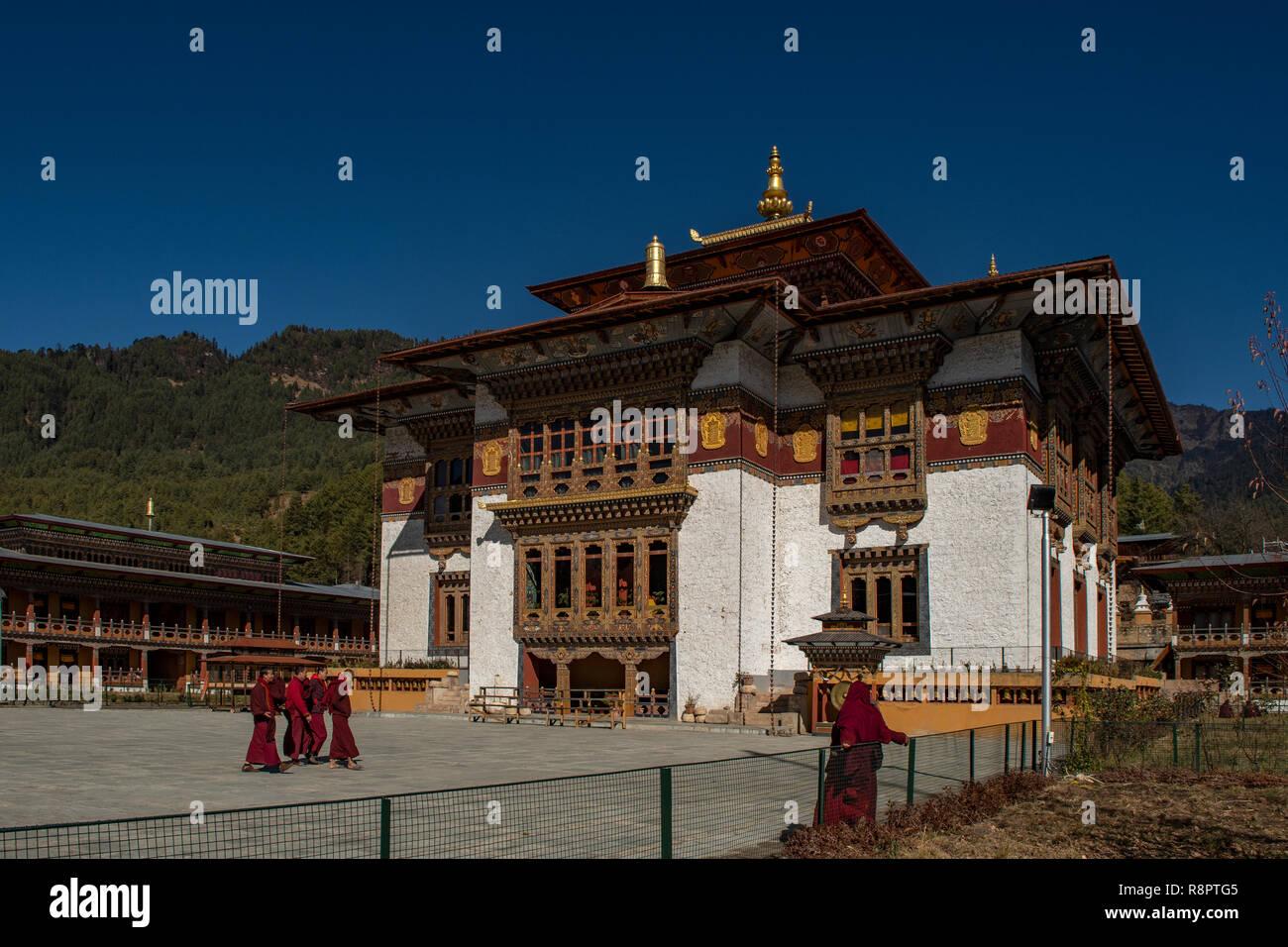 Kenchosum Lhakhang, Bumthang, Bhutan - Stock Image