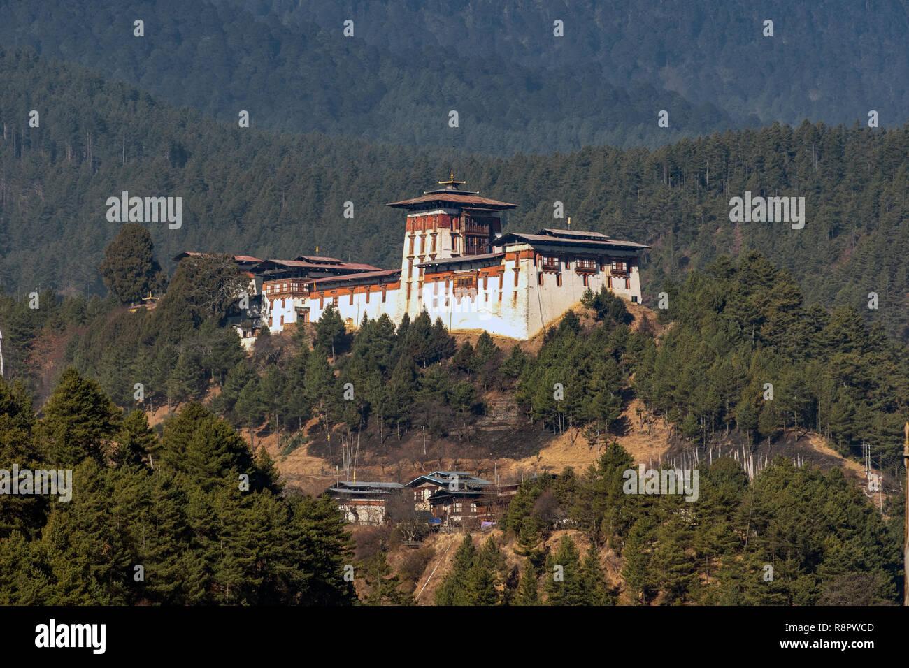 Jakar Dzong, Bumthang, Bhutan - Stock Image
