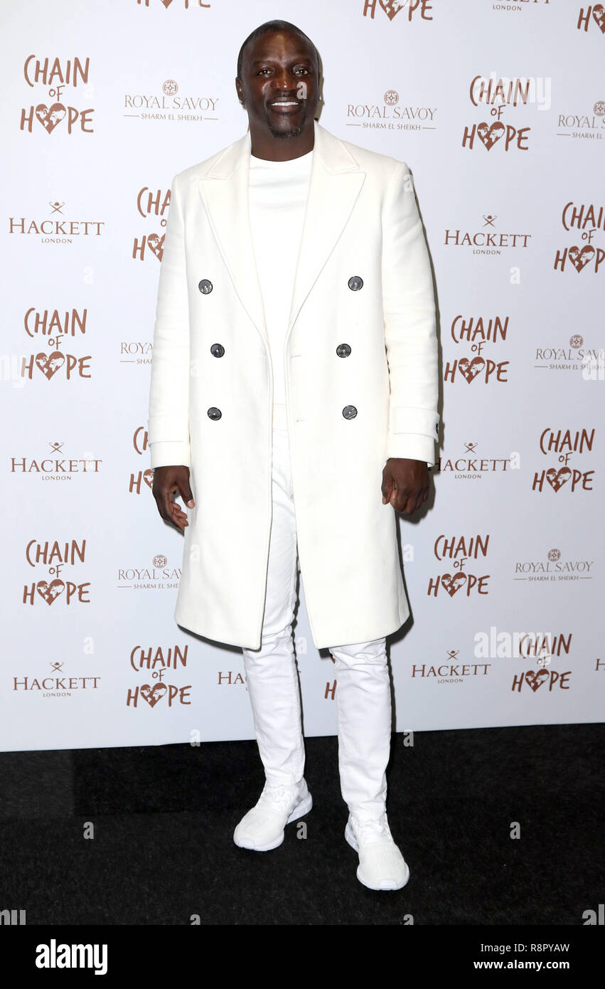 Nov 16, 2018  - Akon attending Chain of Hope Gala Ball, Old Billingsgate in London, UK - Stock Image