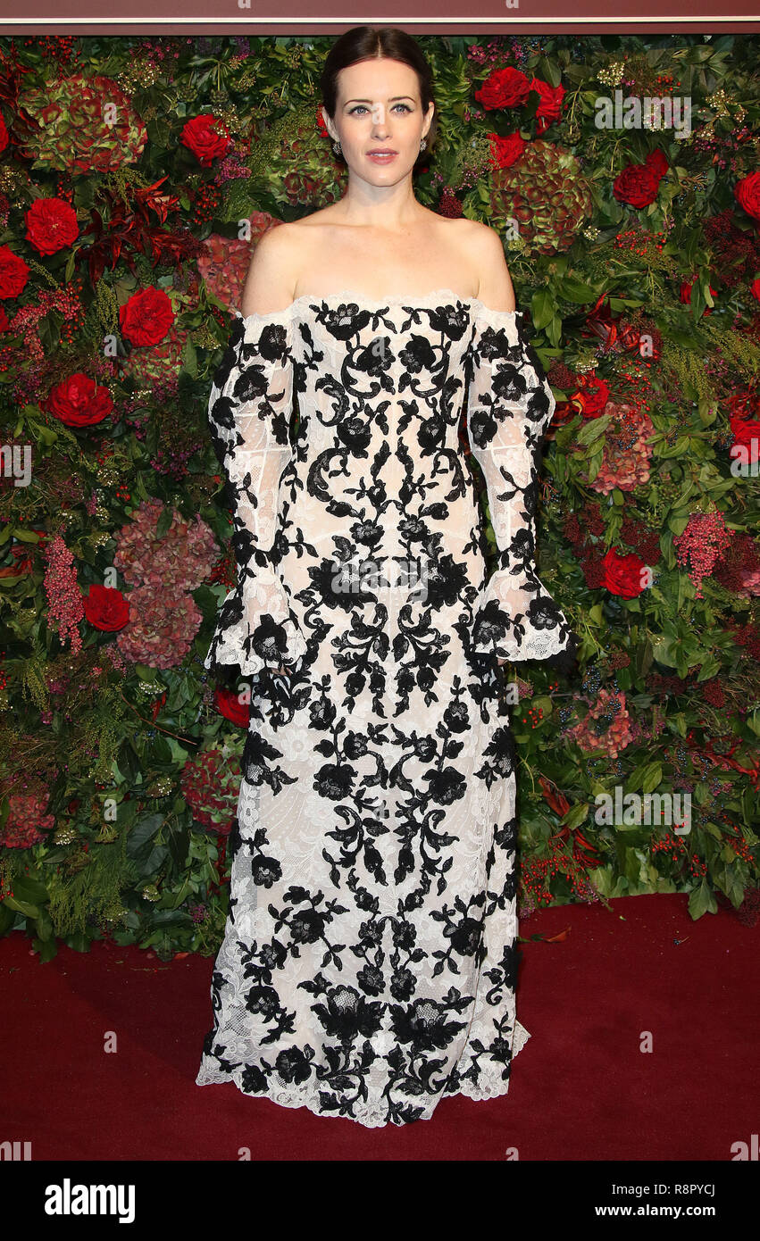 Nov 18, 2018  - Claire Foy attending 64th Evening Standard Theatre Awards, Theatre Royal Drury Lane in London, UK - Stock Image