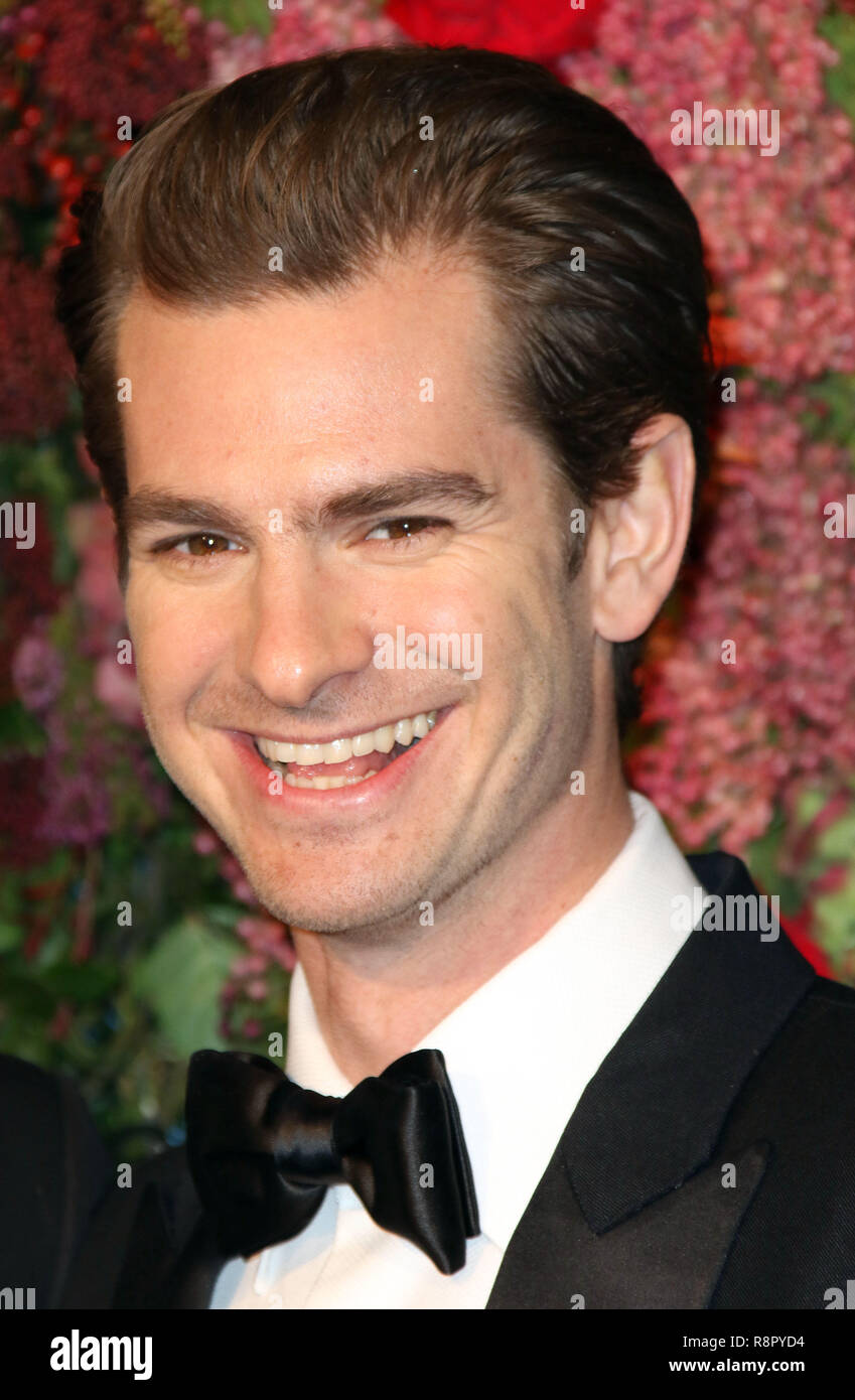 Nov 18, 2018  - Andrew Garfield attending 64th Evening Standard Theatre Awards, Theatre Royal Drury Lane in London, UK - Stock Image