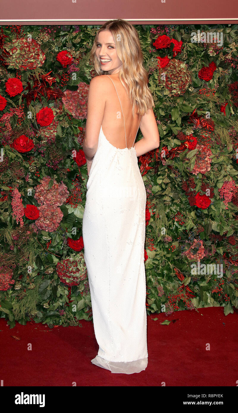Nov 18, 2018  - Annabelle Wallis attending 64th Evening Standard Theatre Awards, Theatre Royal Drury Lane in London, UK - Stock Image