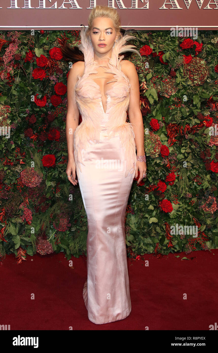 Nov 18, 2018  - Rita Ora attending 64th Evening Standard Theatre Awards, Theatre Royal Drury Lane in London, UK - Stock Image