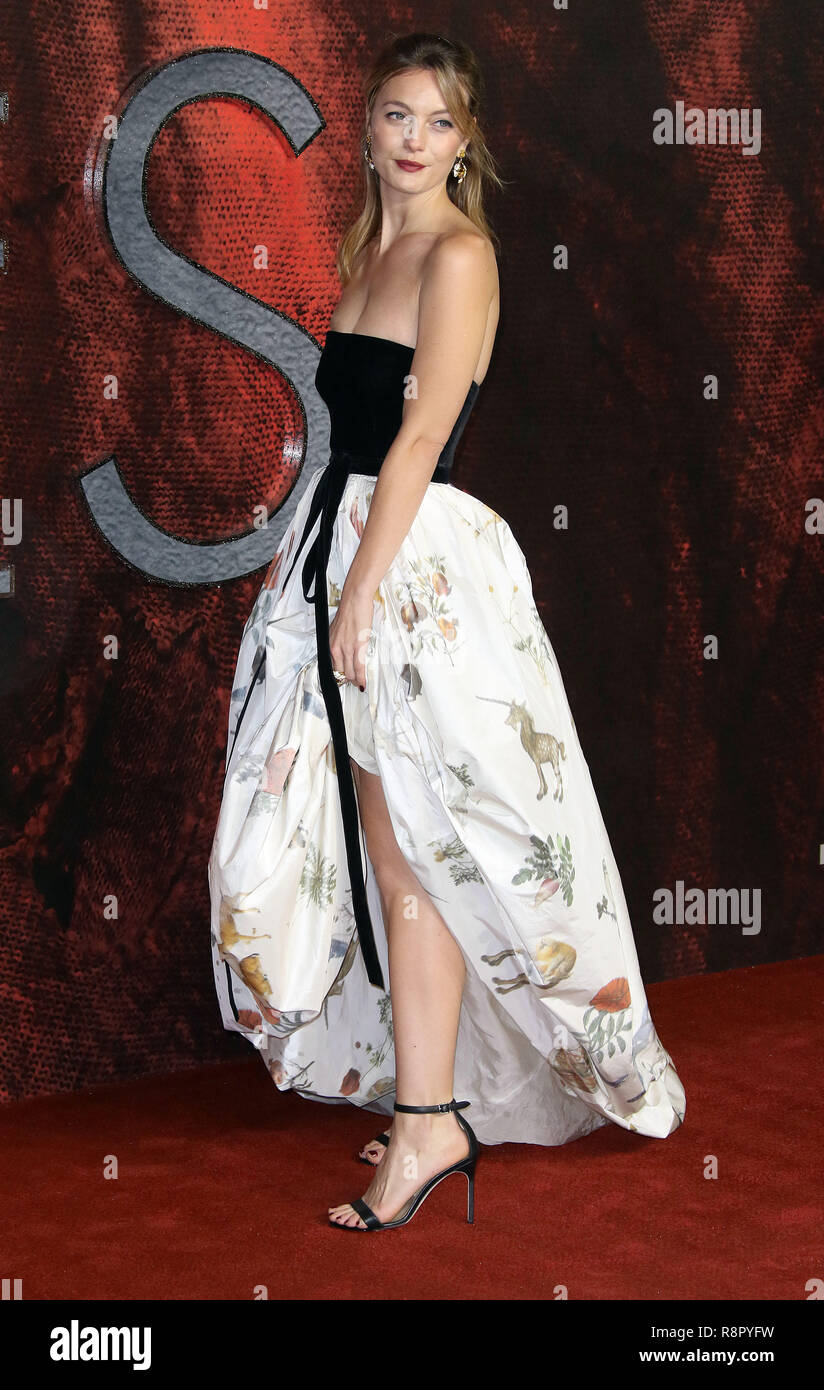 Nov 27, 2018  - Leila George attending Mortal Engines World Premiere, Cineworld, Leicester Square in London, UK - Stock Image