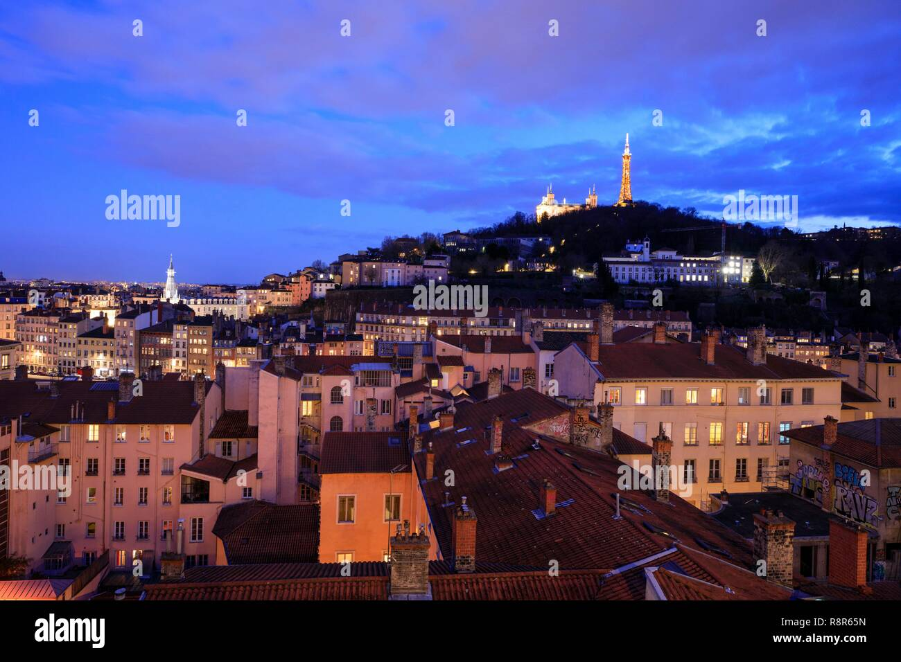 France, Rhône, Lyon, 1st arrondissement, Les Pentes district of La ...