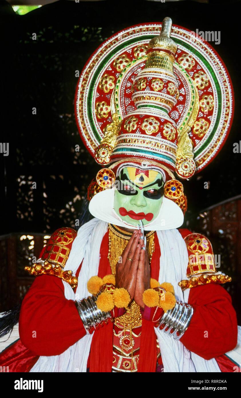 Kathakali Dancer, Classical Dance, Cochin, Kerala, India