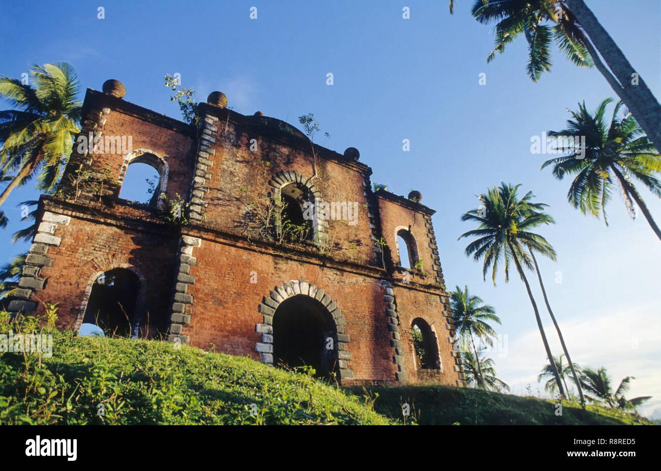 Gallows, Viper Island, Andaman Islands, India - Stock Image