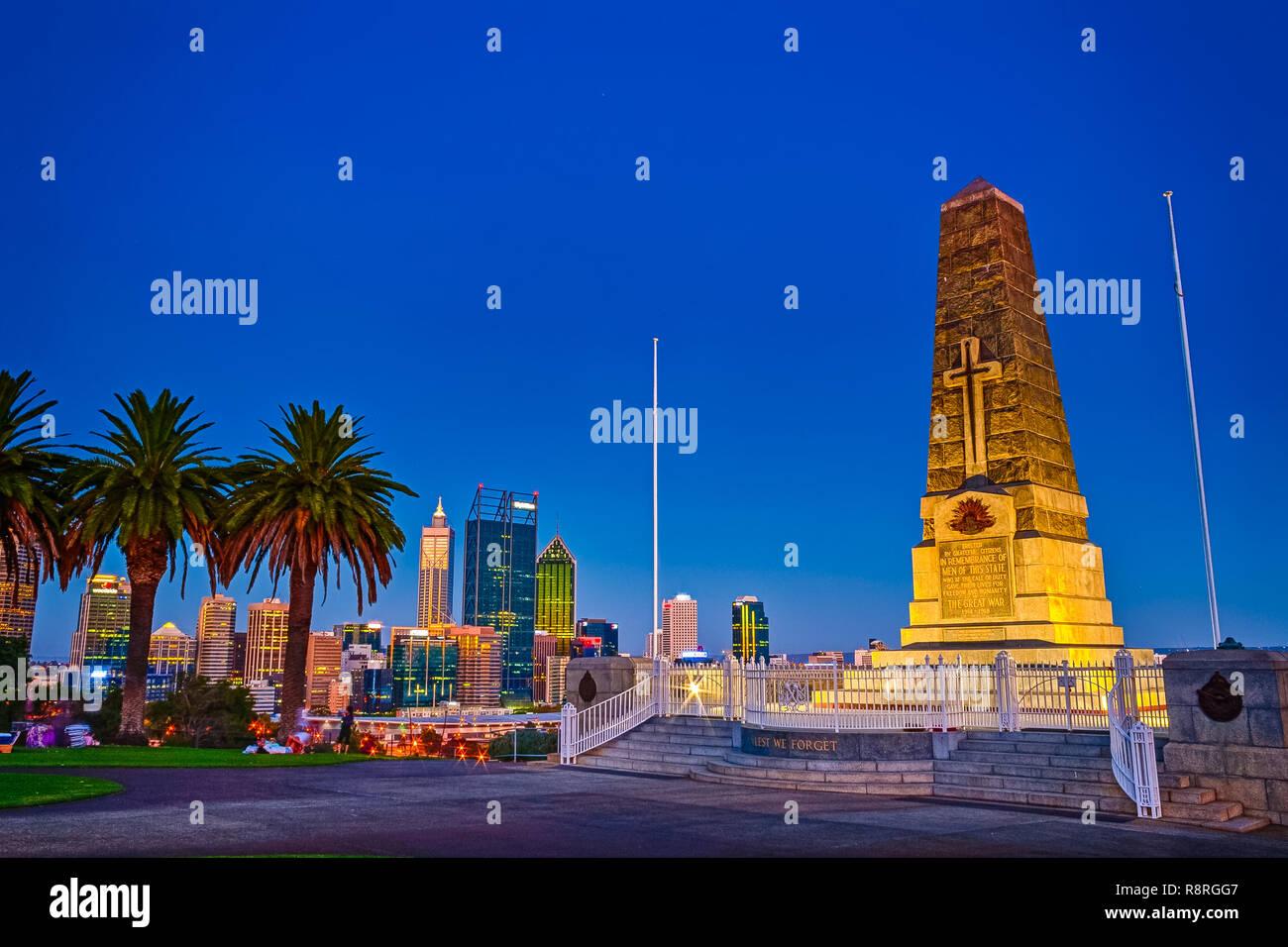 Kings Park War Memorial, Perth, Western Australia - Stock Image