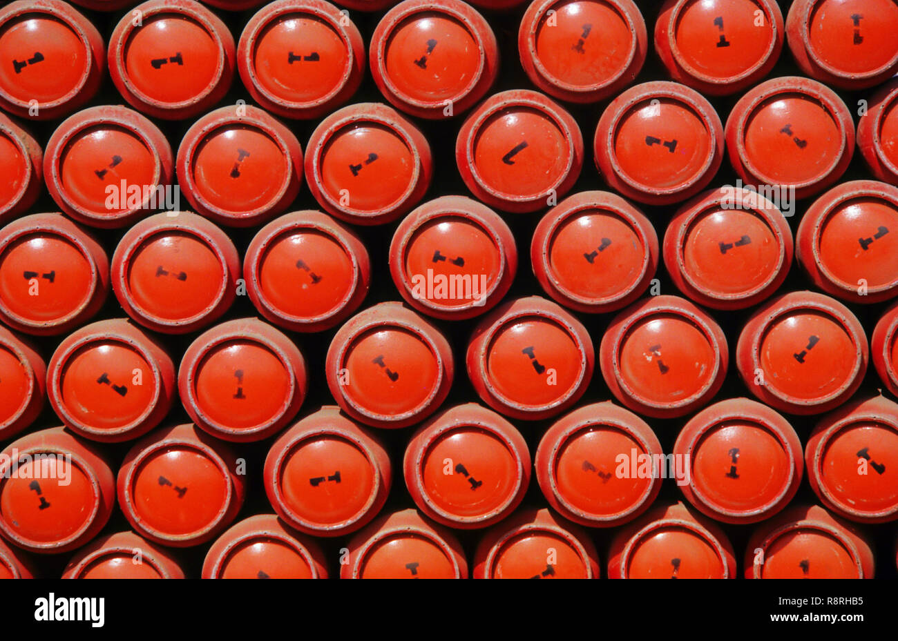 Gas Cylinders - Stock Image