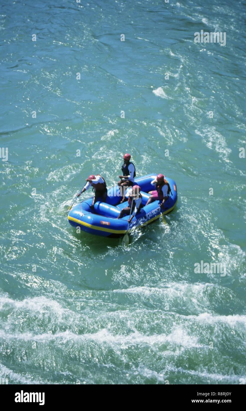 White Water Rafting In Ganga Devprayab To Rishikesh Uttranchal India Stock Photo Alamy