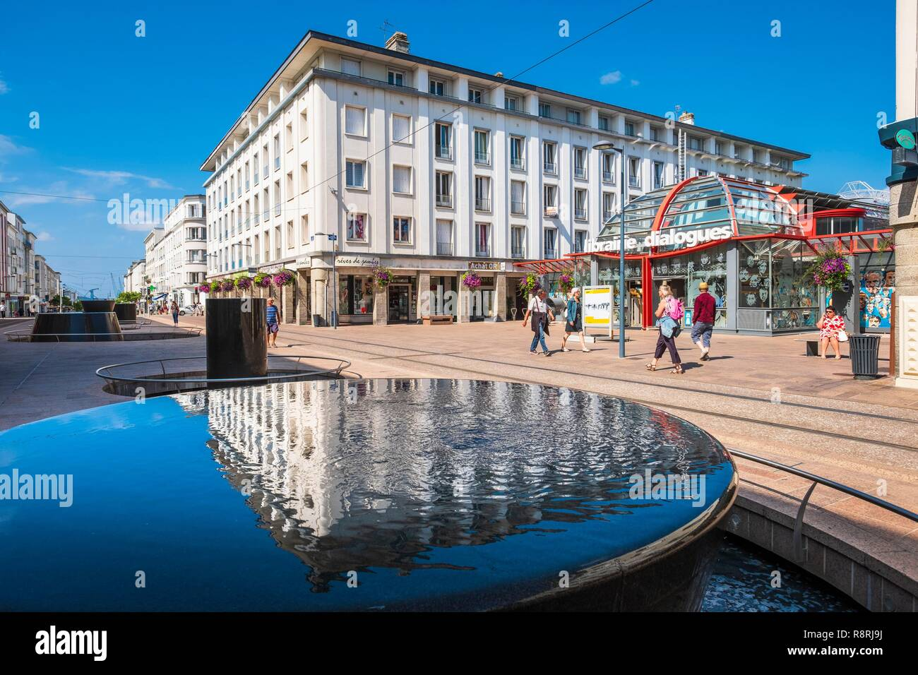 France, Finistere, Brest, Siam street, Dialogues library - Stock Image