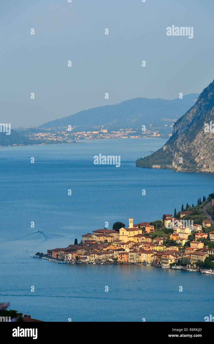 Italy Lombardy Iseo Lake Il Lago D Iseo Monte Isola