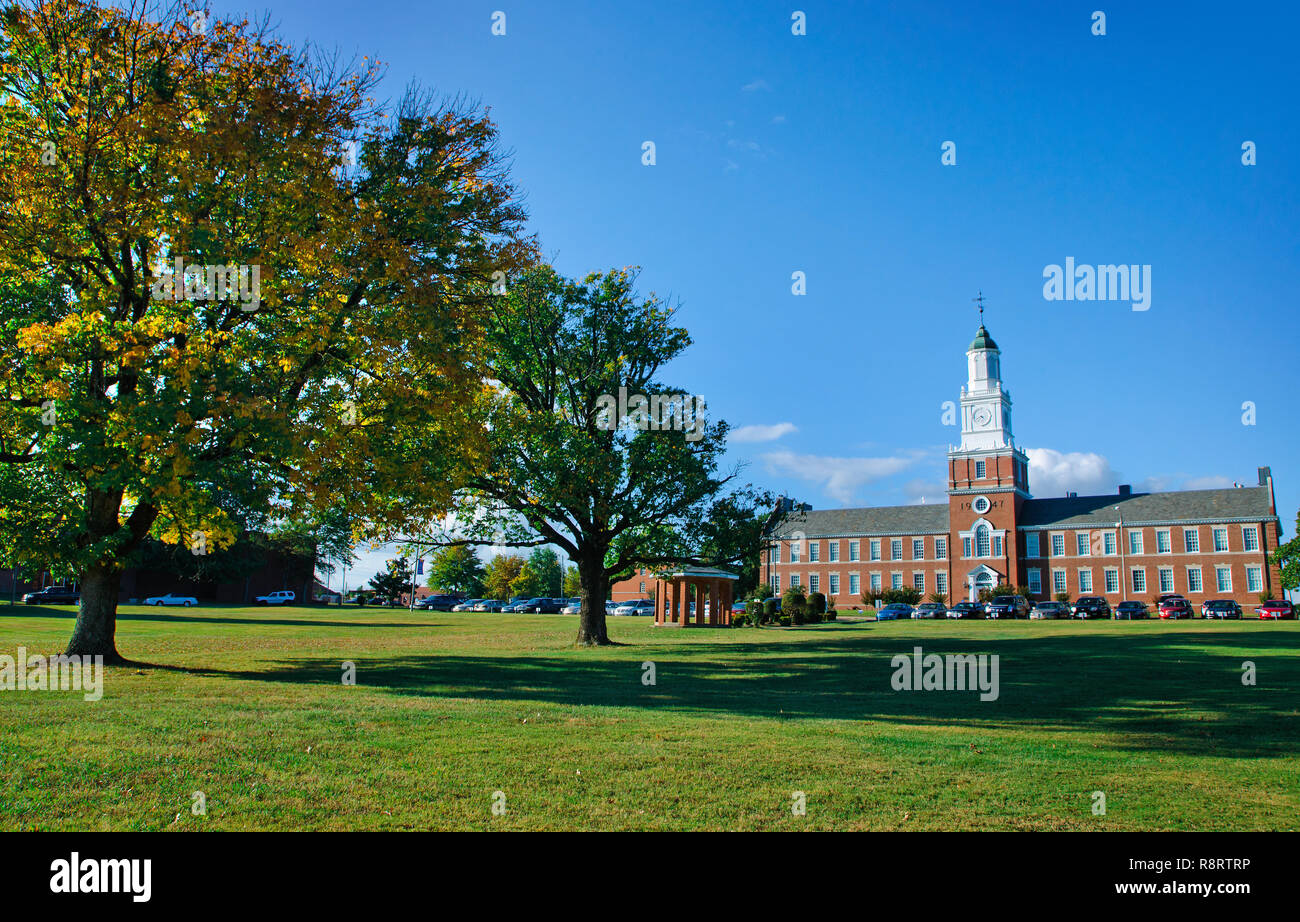 The sun sets at Rust College Oct. 10, 2011 in Holly Springs, Miss. The historically black college was founded in 1866. - Stock Image