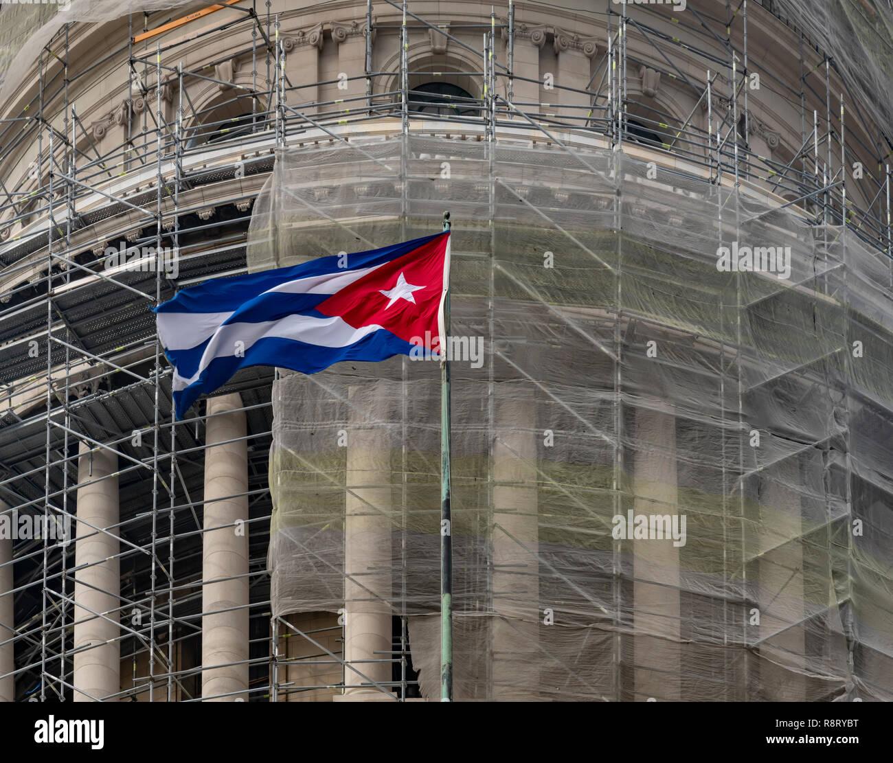The El Capitolio building in Havana Cuba - Stock Image