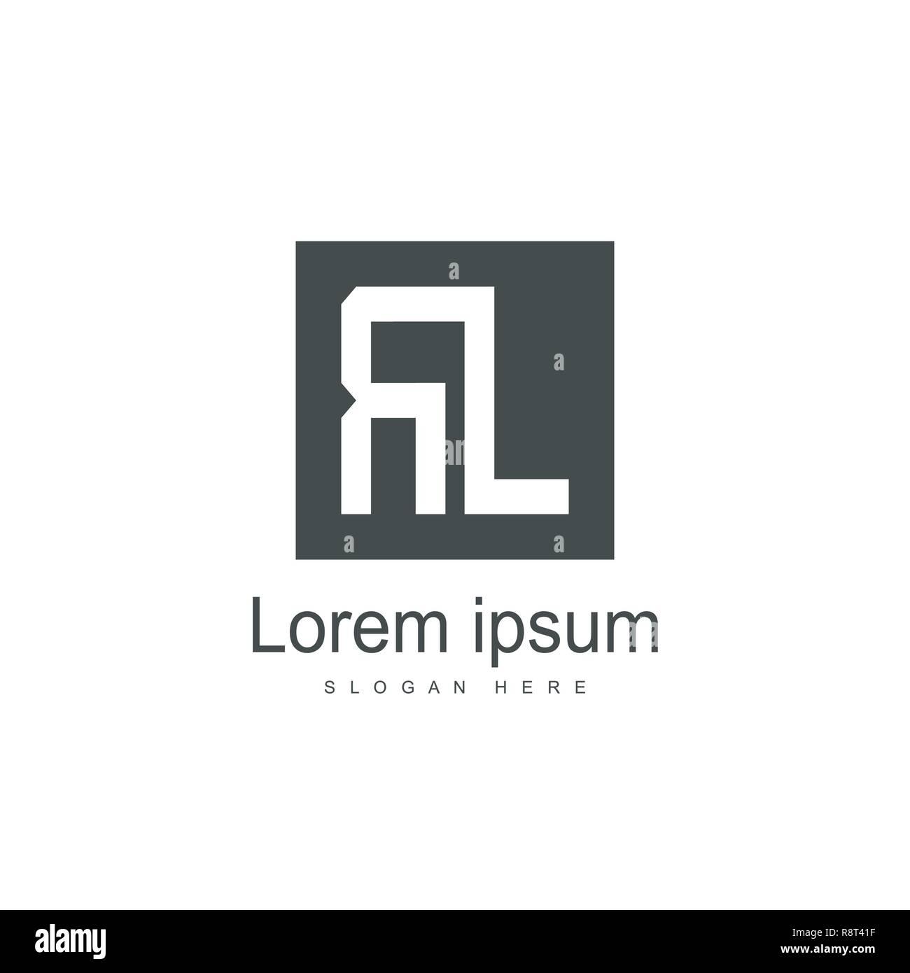 Initial Letter RL Logo Template Vector Design - Stock Vector