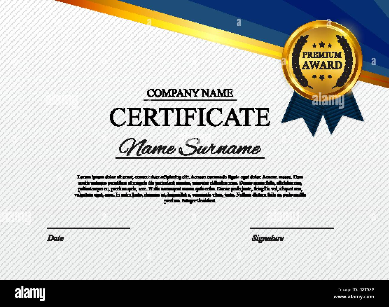 Certificate template Background. Award diploma design blank Intended For Star Award Certificate Template