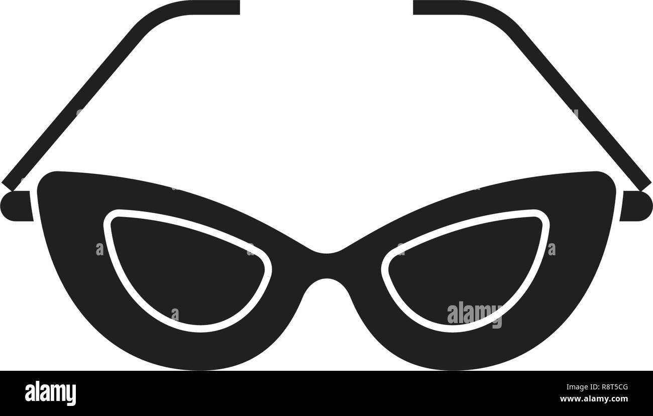 14e54d3e71 Cat eye glasses black vector concept icon. Cat eye glasses flat  illustration