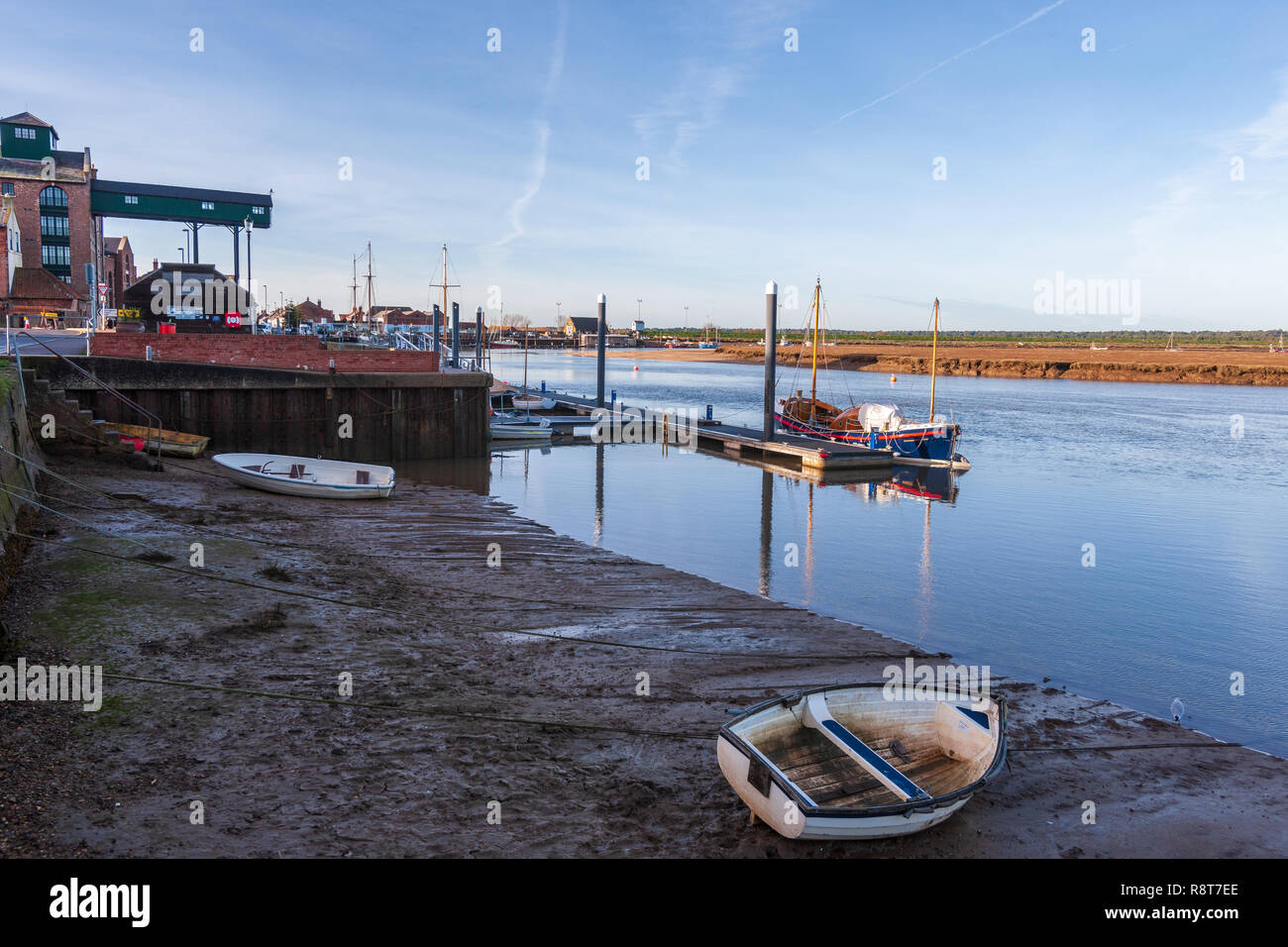 wells horbour on the north norfolk coast - Stock Image