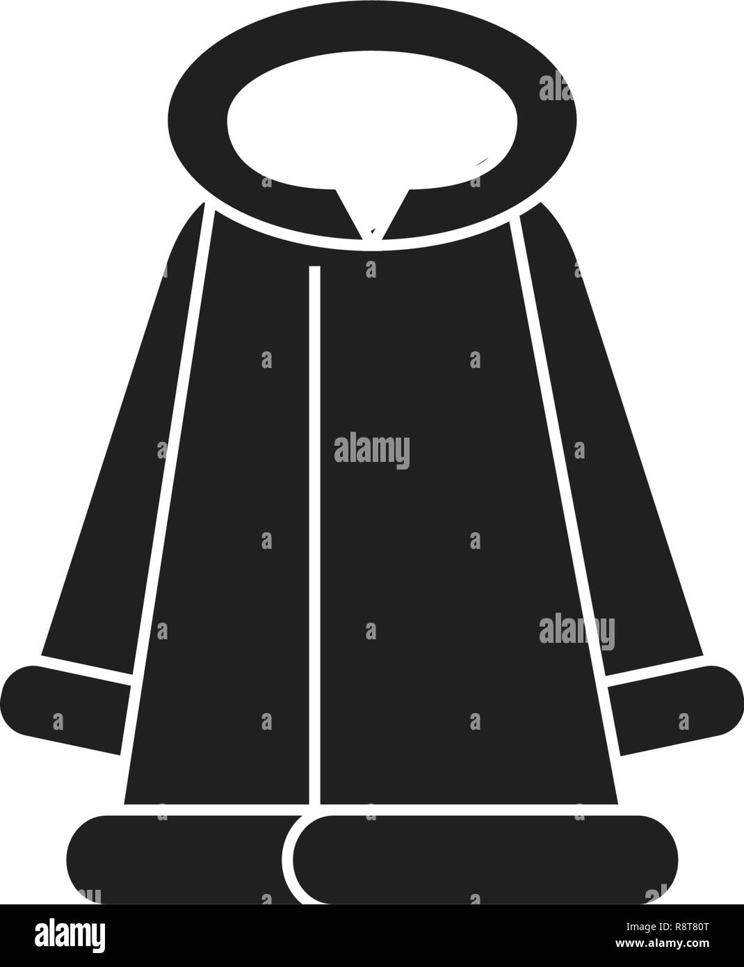 6fa4f26c4d4 Fashion fur coat black vector concept icon. Fashion fur coat flat  illustration, sign -