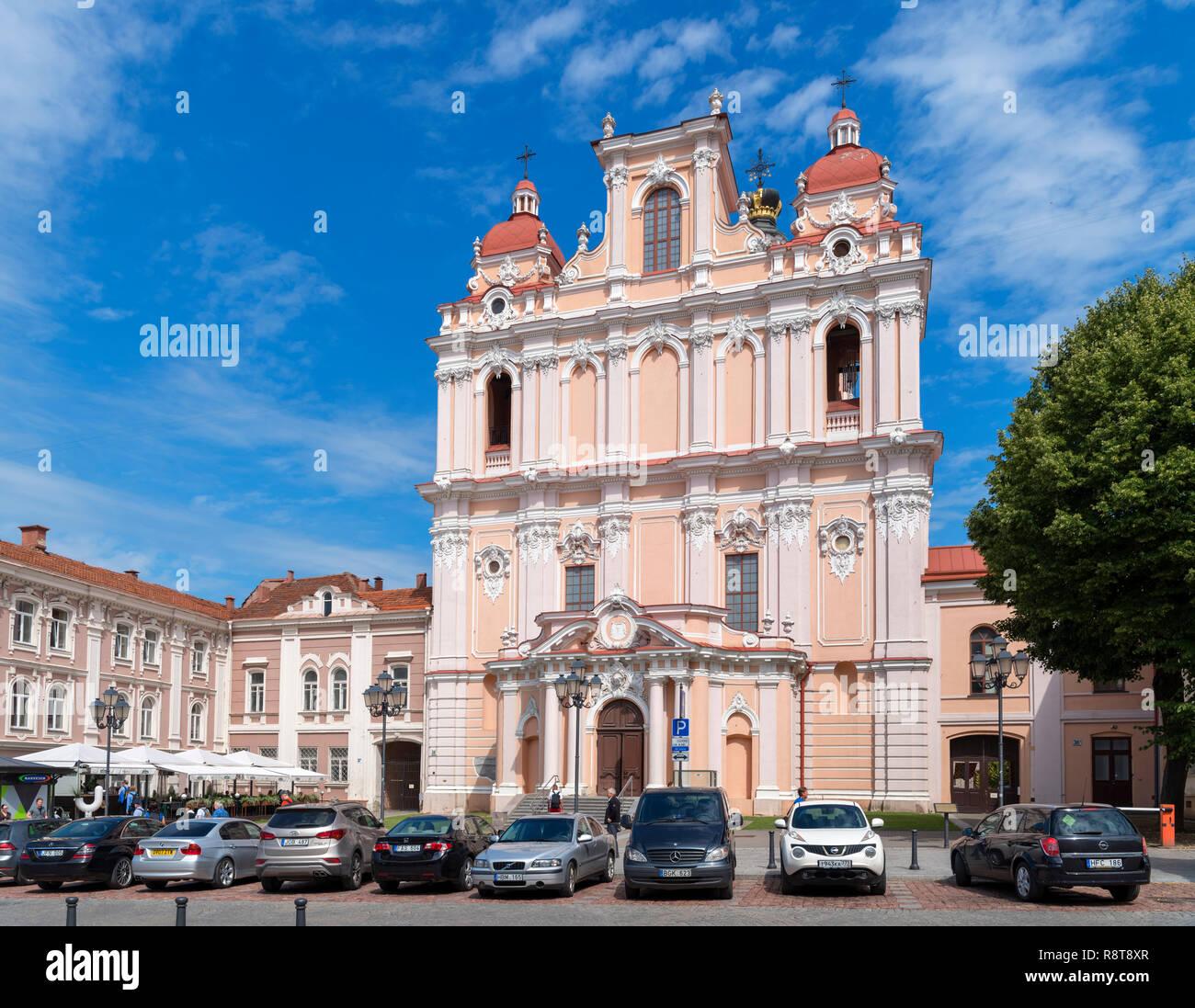 Church of St. Casimir, Didžioji gatvė, Vilnius, Lithuania - Stock Image