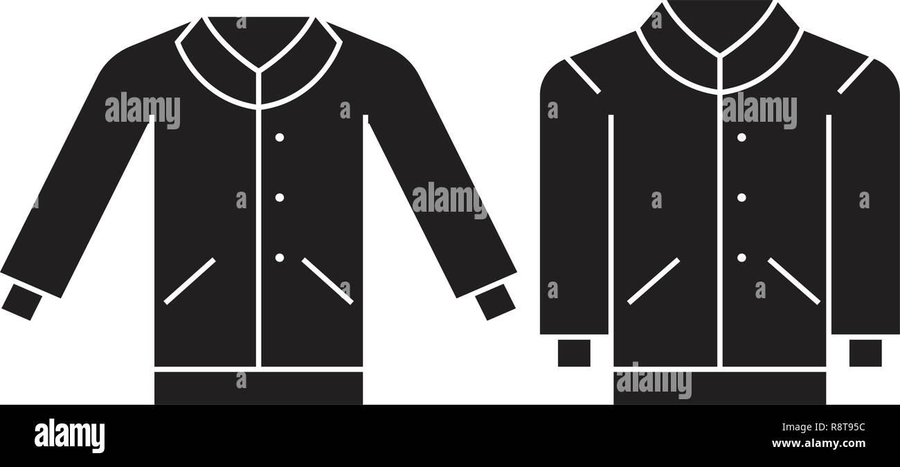 c74bfd52e31 Men pullover black vector concept icon. Men pullover flat illustration, sign