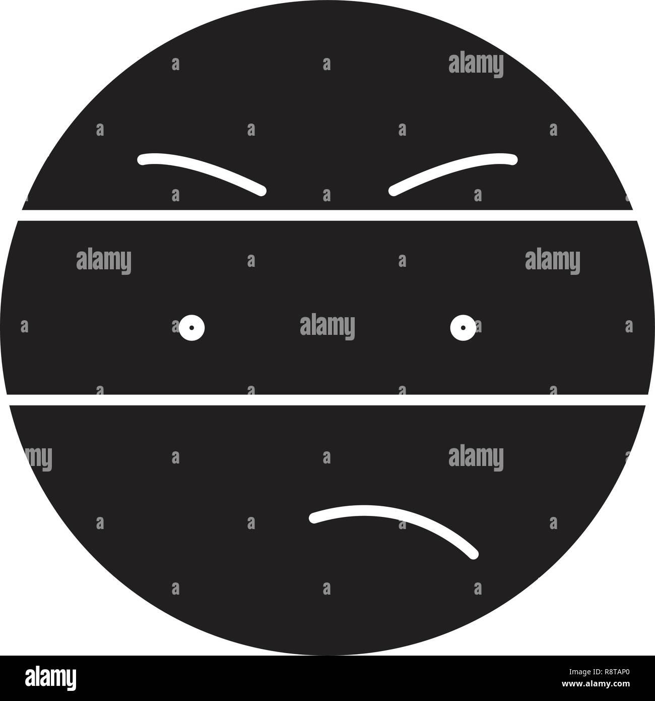 Spy emoji black vector concept icon. Spy emoji flat illustration, sign Stock Vector