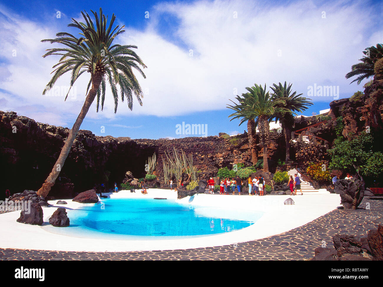 Los Jameos del Agua, by Cesar Manrique. Lanzarote, Canary Islands, Spain. Stock Photo
