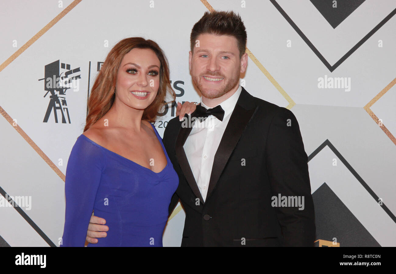 Amy Dowden on the red carpet ahead of the BBC Sports Personality of the Year Awards 2018 at Genting Arena, Birmingham, United Kingdom - Stock Image