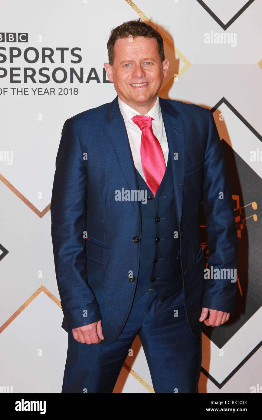 Mike Bushell on the red carpet ahead of the BBC Sports Personality of the Year Awards 2018 at Genting Arena, Birmingham, United Kingdom - Stock Image