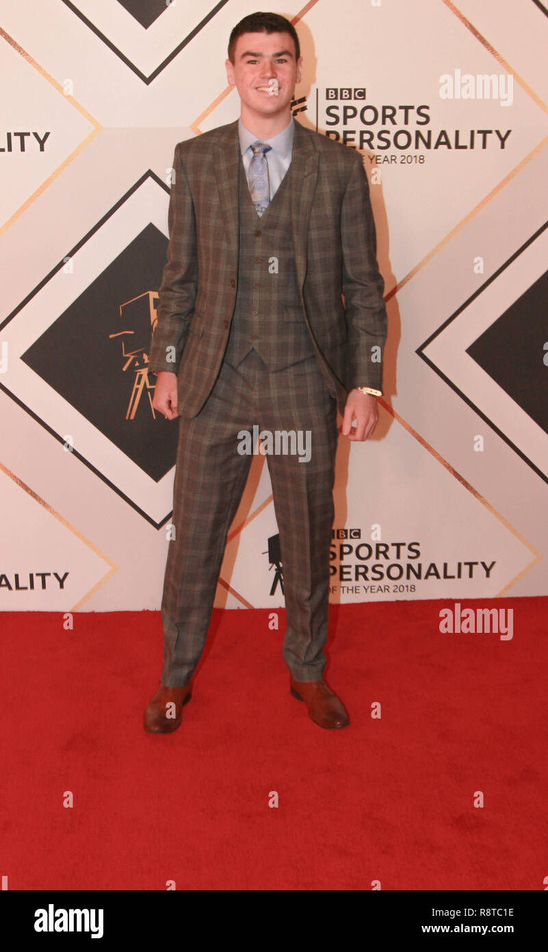 Ross Paterson on the red carpet ahead of the BBC Sports Personality of the Year Awards 2018 at Genting Arena, Birmingham, United Kingdom - Stock Image