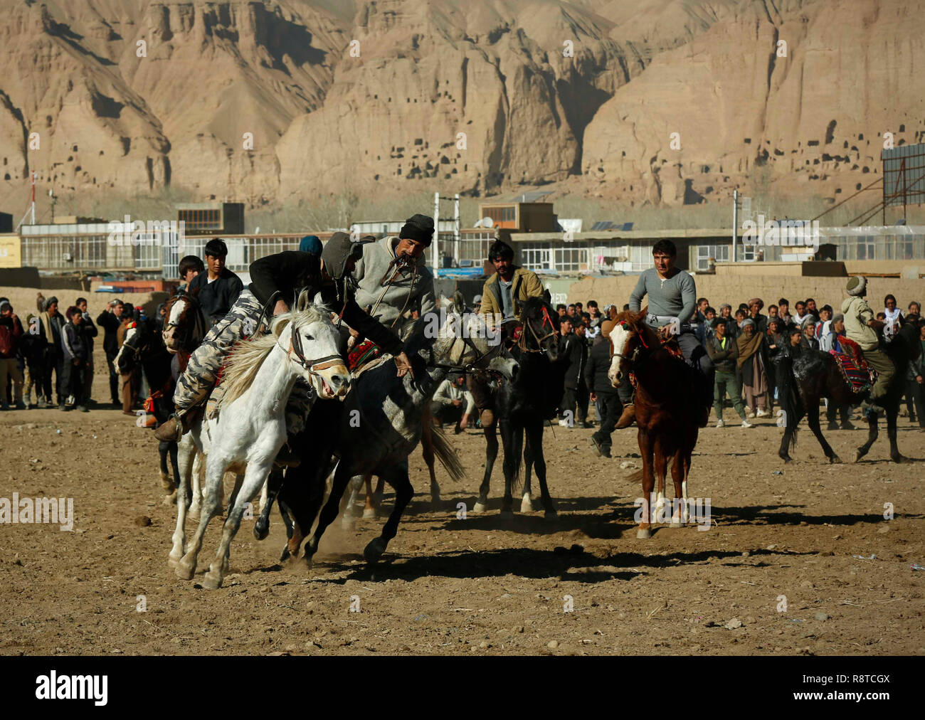 Bamyan, Afghanistan  16th Dec, 2018  Afghan horsemen compete for the