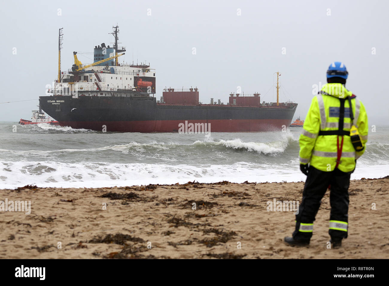 Falmouth, Cornwall, UK  18th Dec 2018 A 16,000-tonne Russian cargo