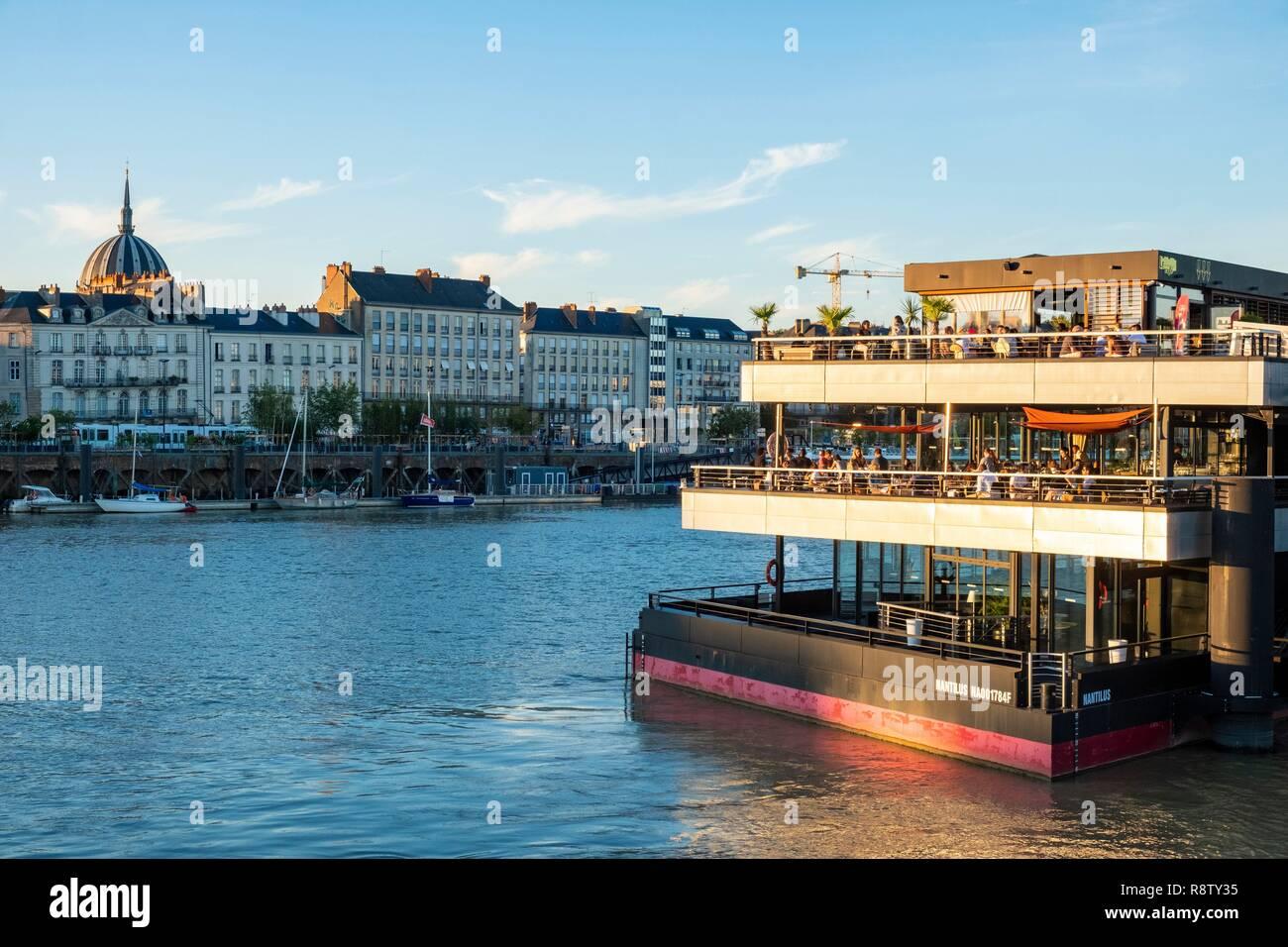 France, Loire Atlantique, Nantes, Ile de Nantes, O'Deck barge