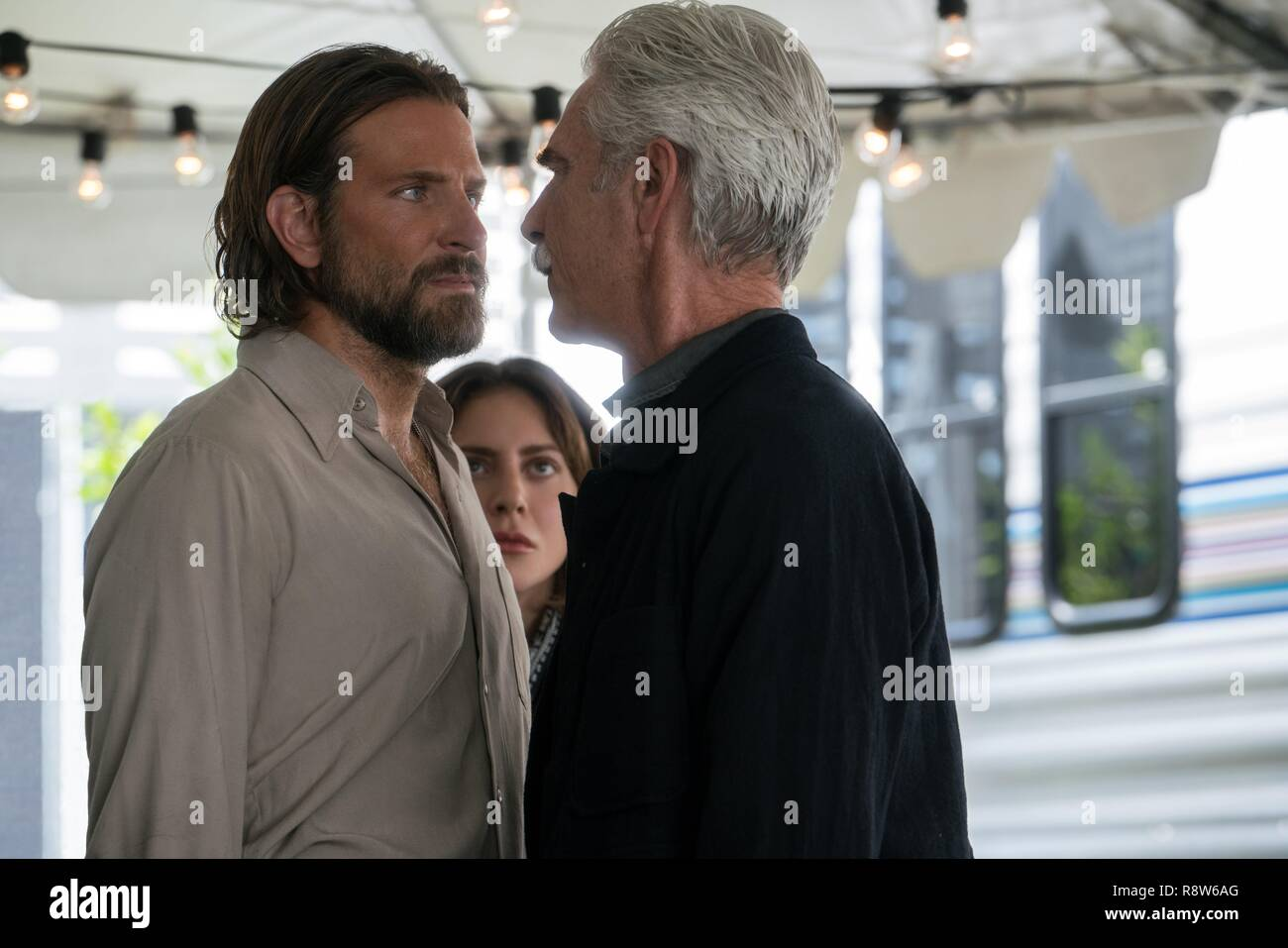 Original film title: A STAR IS BORN. English title: A STAR IS BORN. Year: 2018. Director: BRADLEY COOPER. Stars: BRADLEY COOPER; LADY GAGA. Credit: Gerber Pictures/Joint Effort/Live Nation/Malpaso Productions / Album - Stock Image