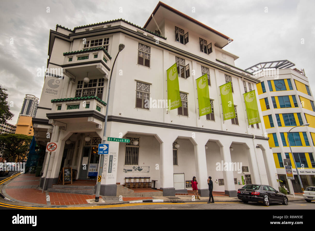The Goethe-Institut at Bukit Pasoh Road, Outram Park, Singapore - Stock Image
